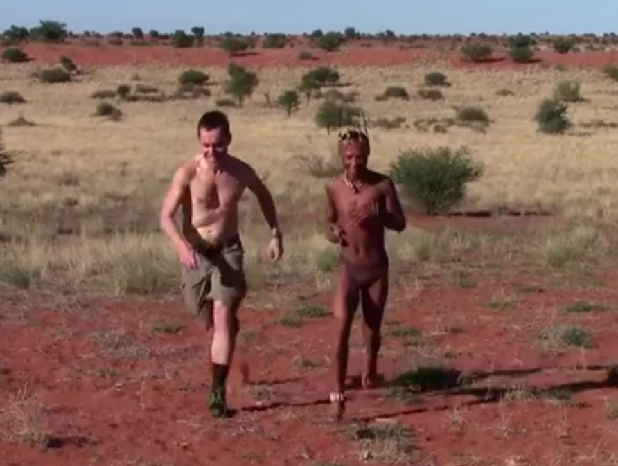 Bushman running