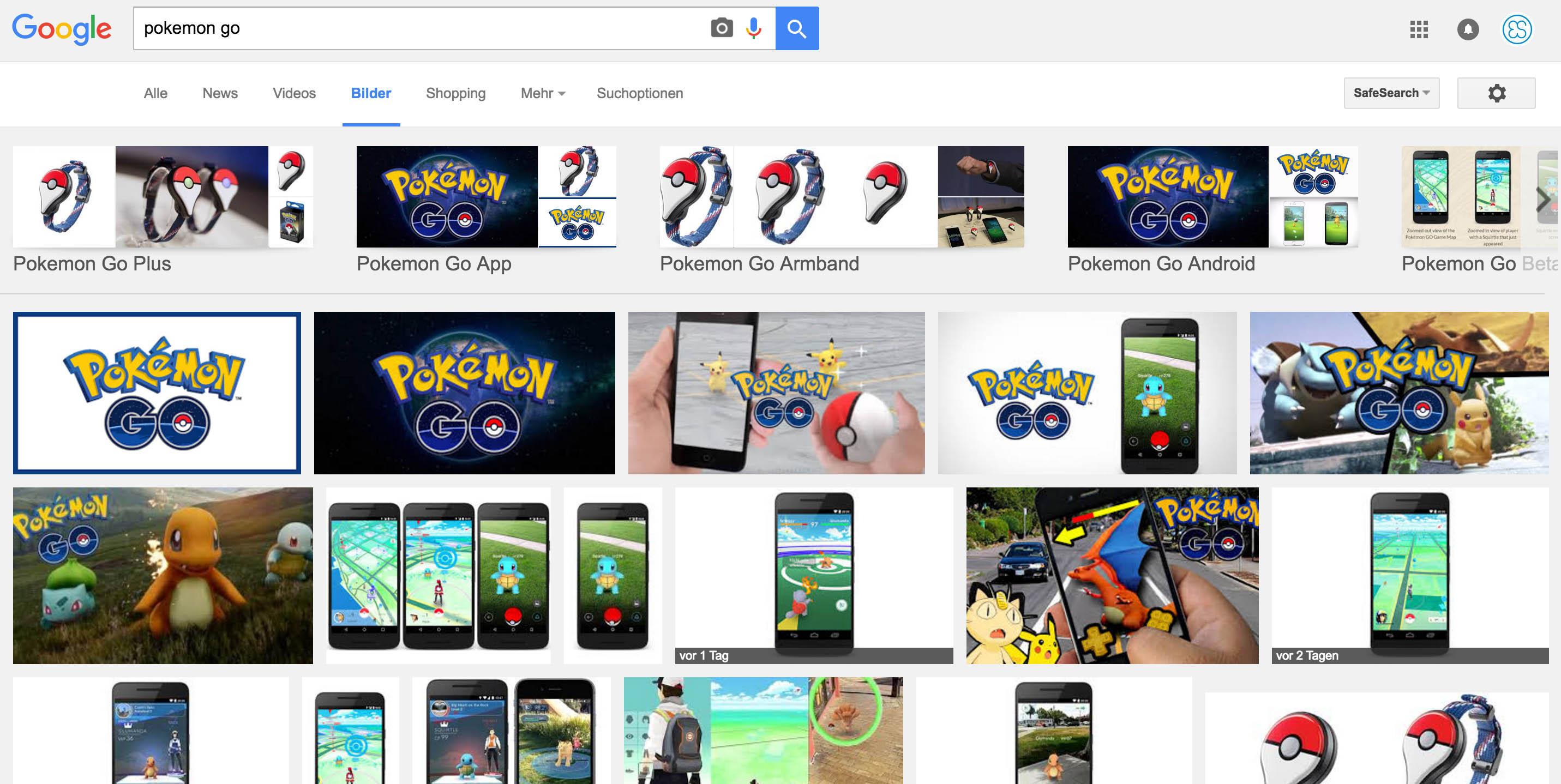 Pokémon Go Suche neu