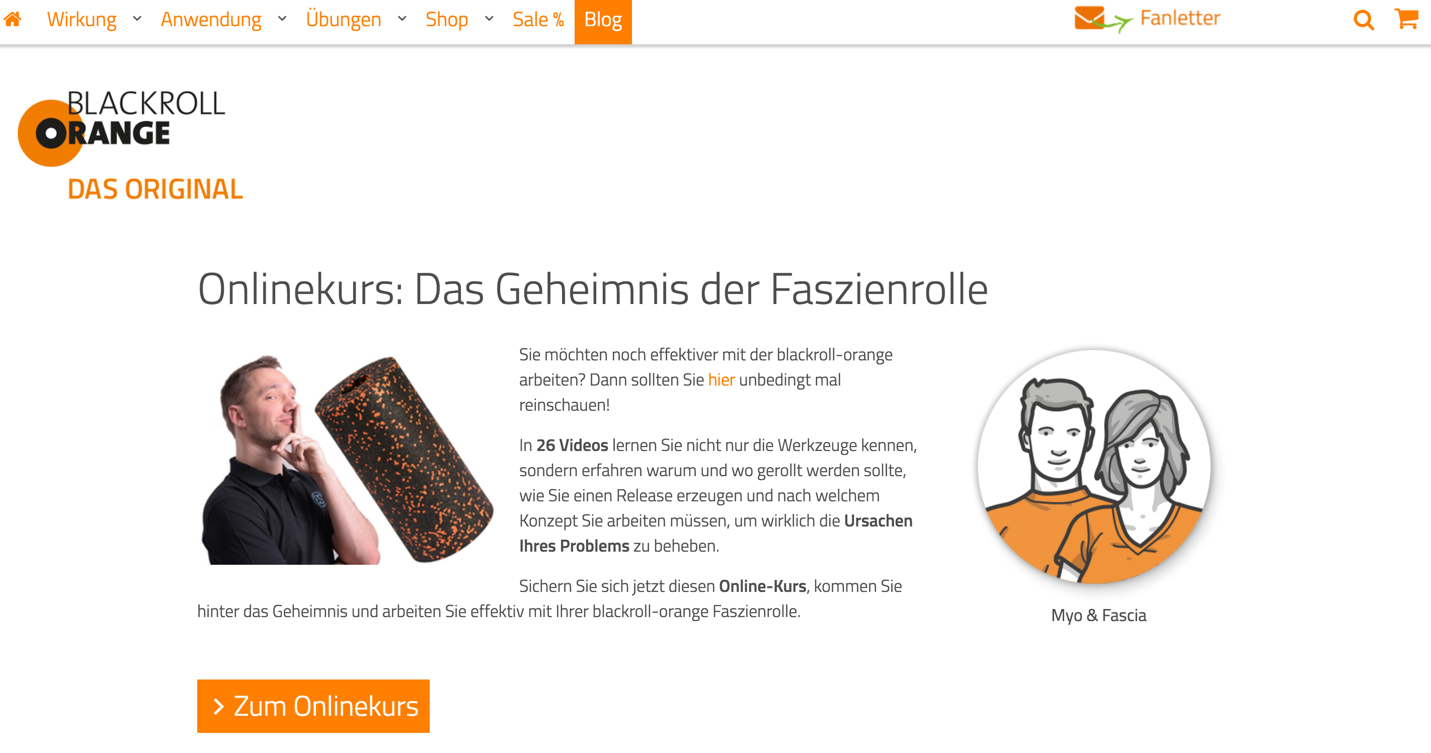 Blackroll Orange Faszien Dirk Beckmann